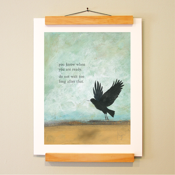 bird & brush: time to fly print