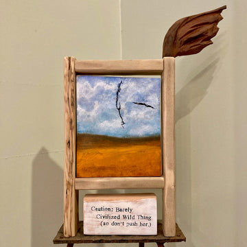 studio piece: bird & brush frame #1