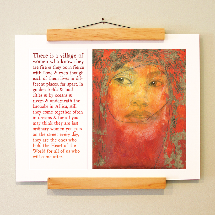 village of women print