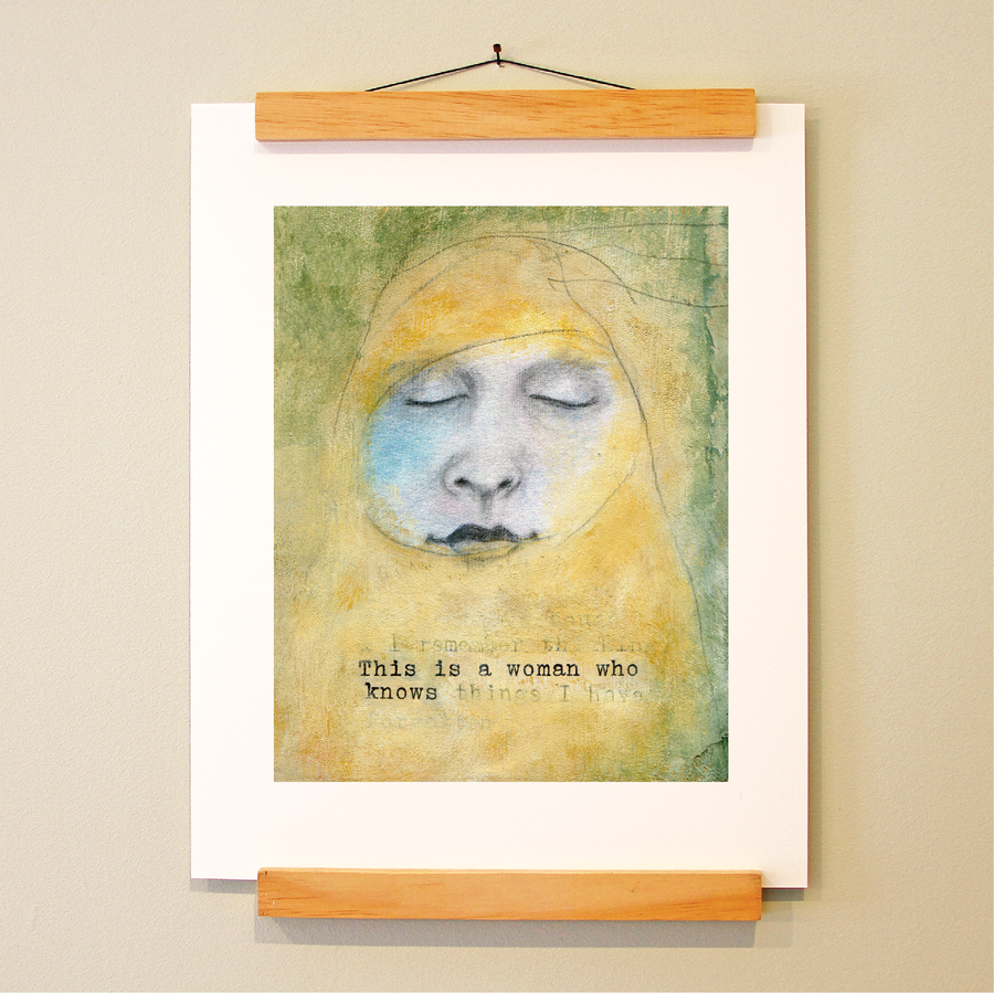 bird & brush: woman who knows print