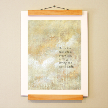 bird & brush: work day print