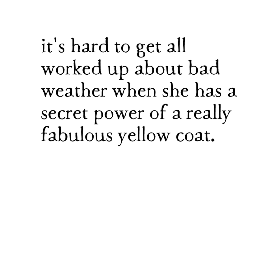 yellow coat print