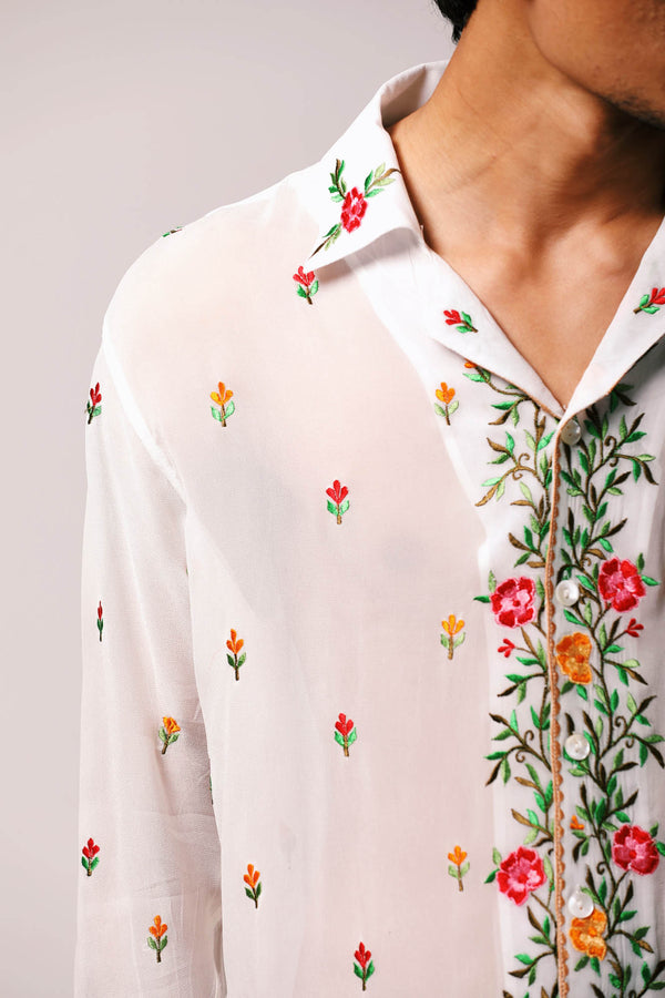 """Le Jardin"" Embroidered shirt"