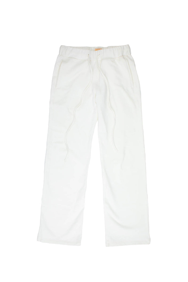 White straight fit sweatpants