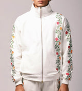 Floral Embroidered Racer Jacket