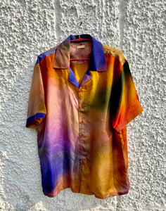 Psychedelic summer silk shirt