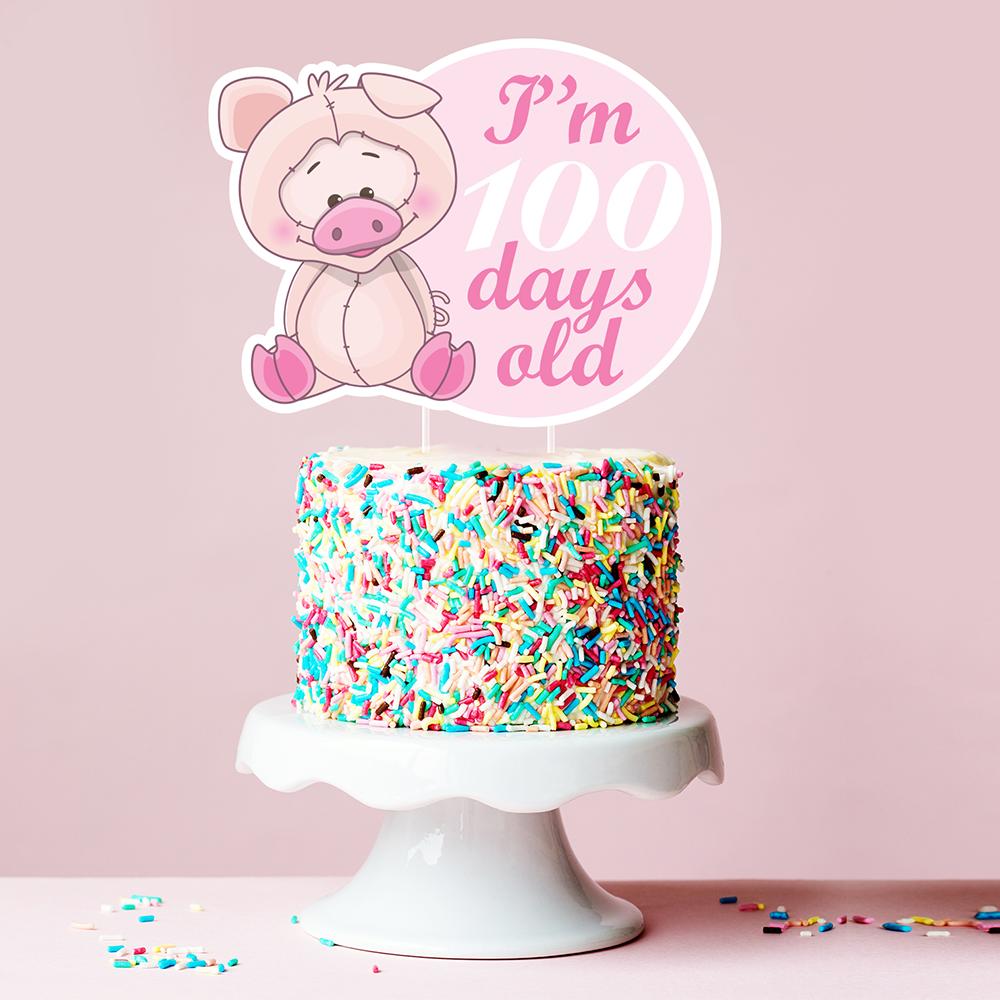 'I'm 100 days old'Cake Topper