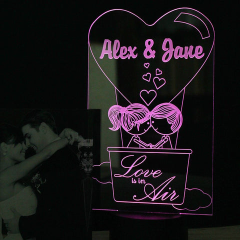 """Love is in the Air"" Bedside Lifestyle Lamp"