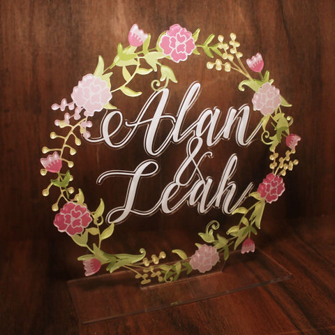 Wedding Floral Sign