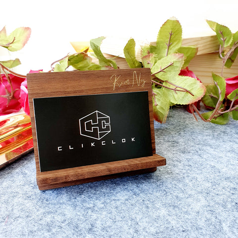 Business Card Holder Wood C