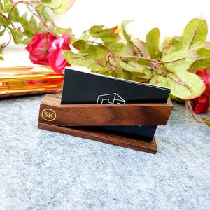 Business Card Holder Wood F