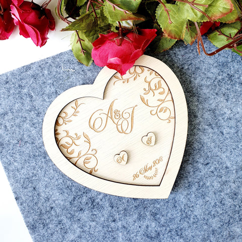 Heart-shaped Wedding Ring Tray