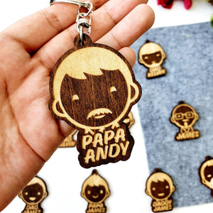 Wooden Keychain for Guys