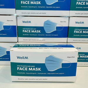 [1-2 Weeks Production] WellM 3-ply Face Mask