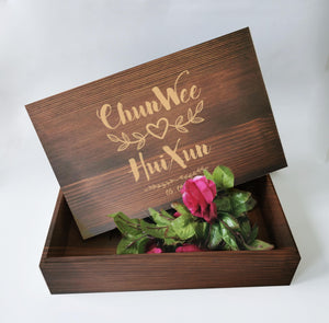 32 x 21cm Dark Wood Gift Box