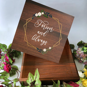 26 x 26cm Wooden Gift Box (stained)