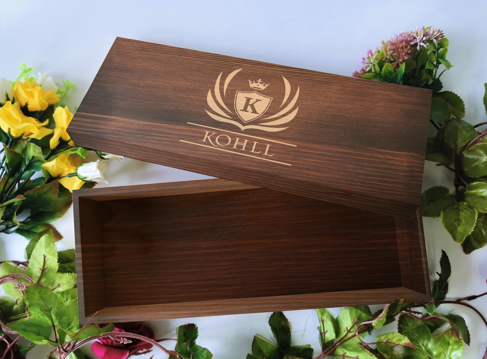 32 x 12.5cm Wooden Gift Box (stained)