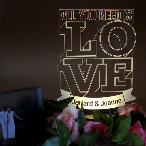 """All you need is Love"" Bedside Lifestyle Lamp"