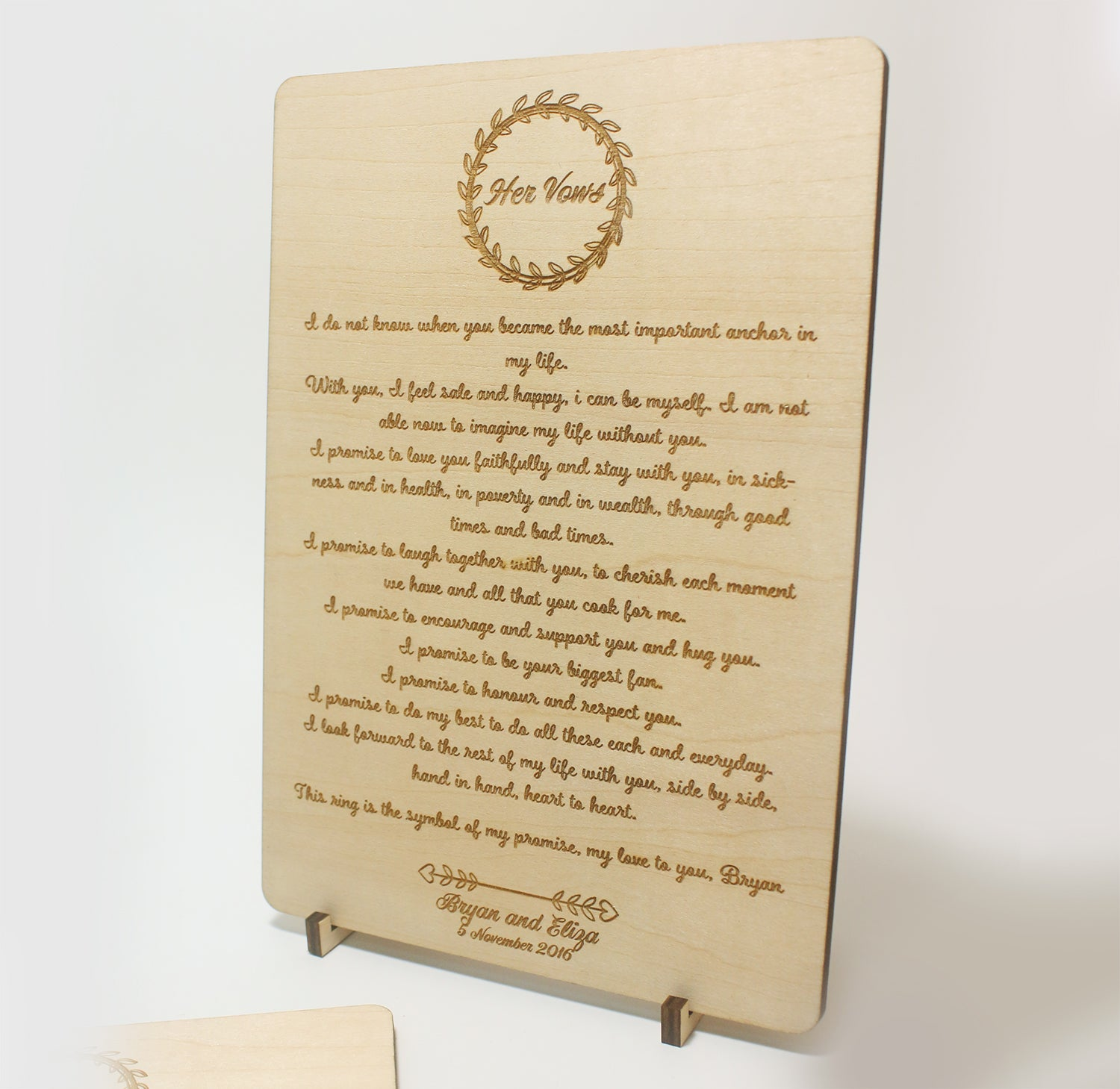 Basswood Vow Boards