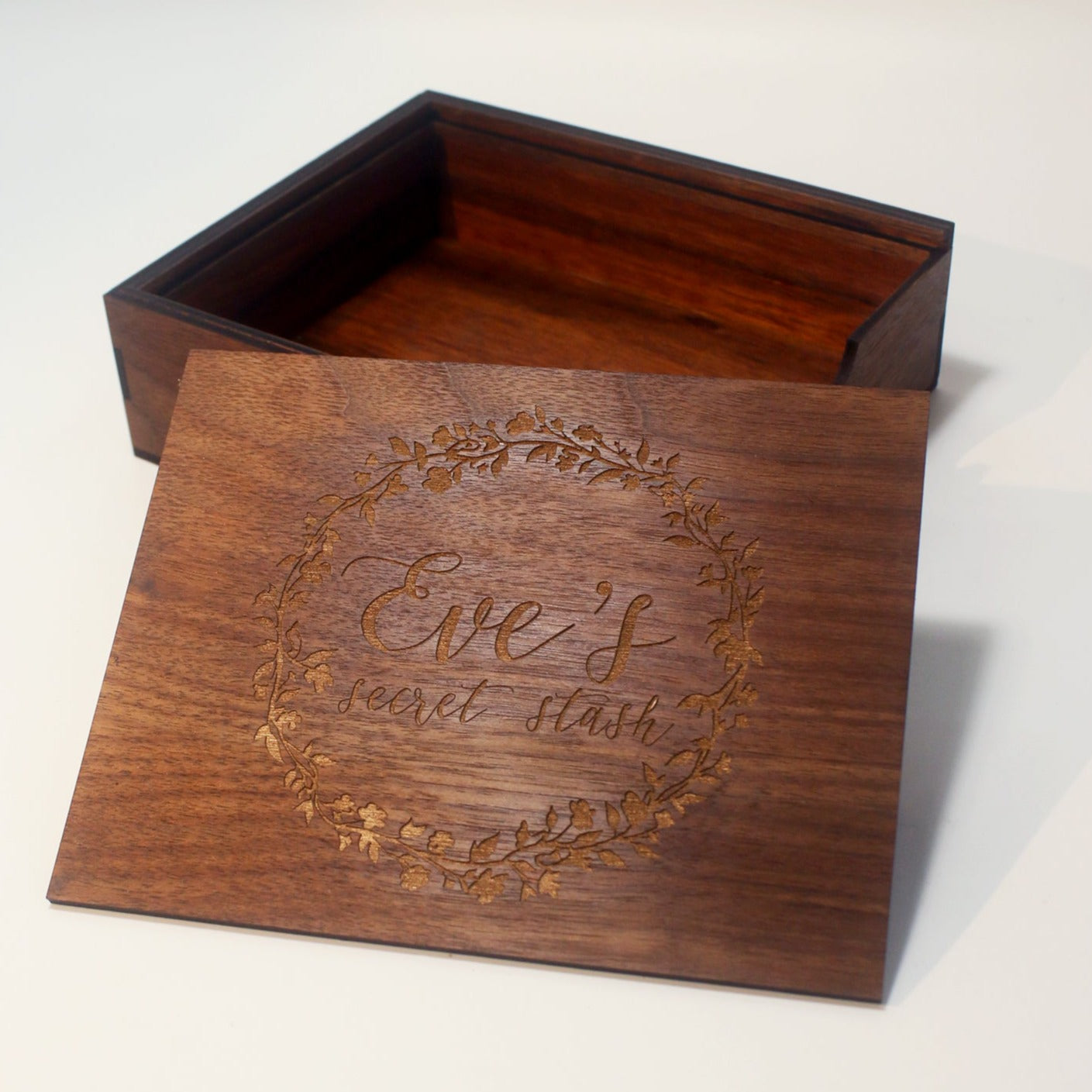 Wooden Keepsake Sliding Box