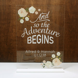 Wedding Signage Acrylic (with stand)