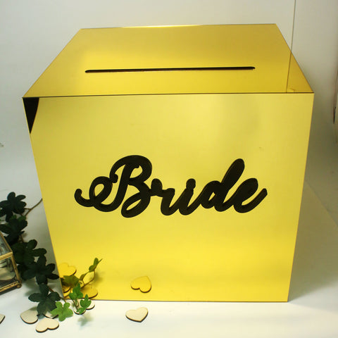 Gold Mirror Wedding Angbao Box