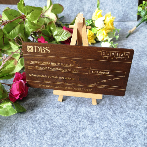 Mock up Cheque (Wood)