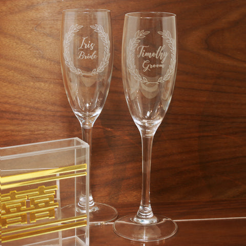Custom Champagne Glass