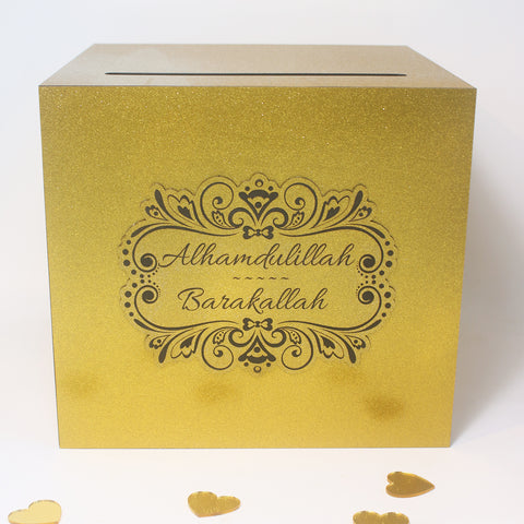 Glitter Gold Wedding Angbao Box