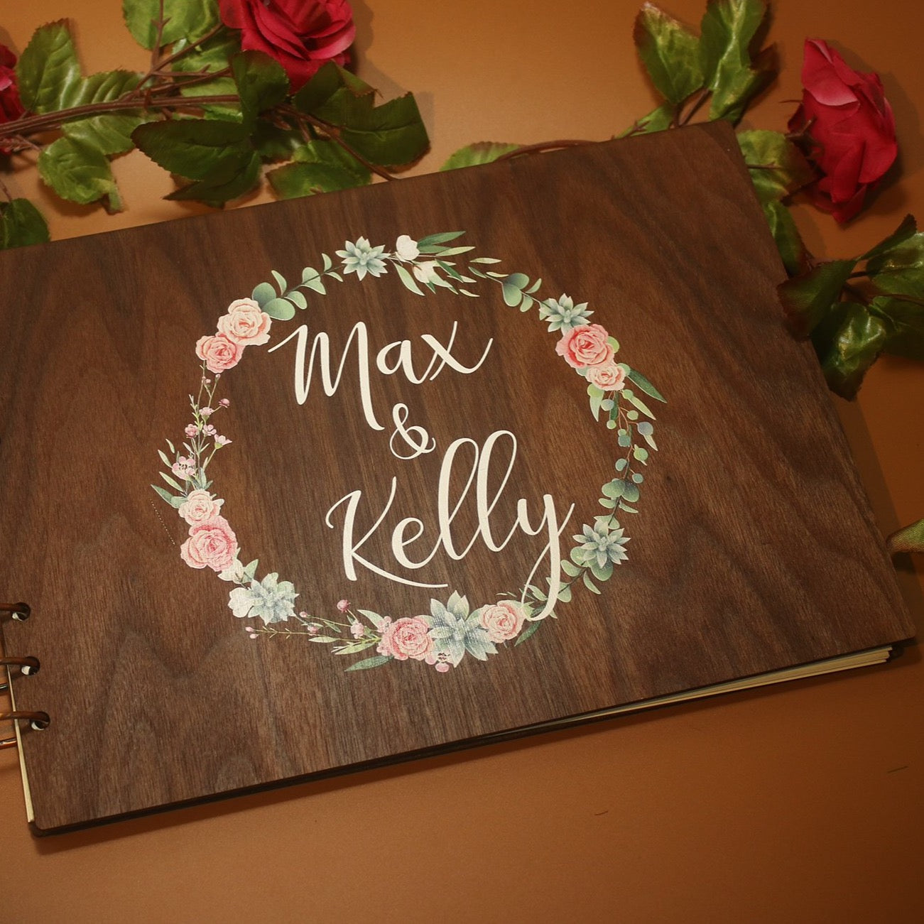 Wedding Guestbook Wooden Wedding Book