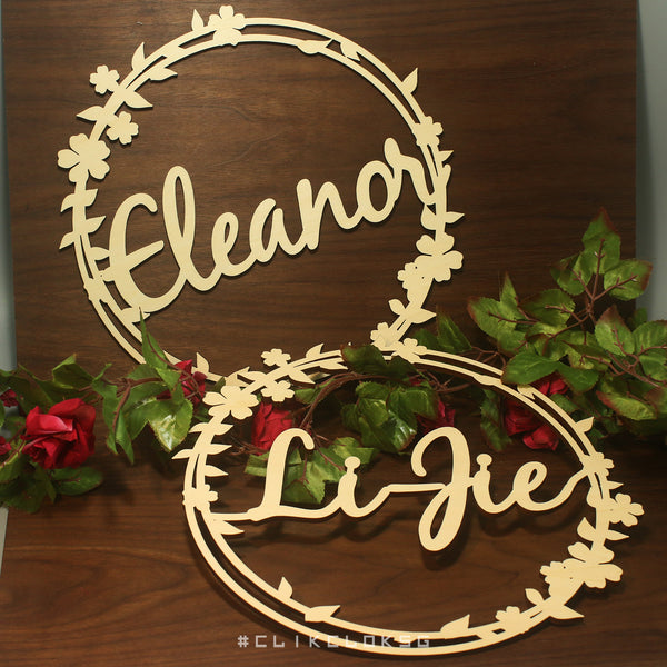 Round Chair Sign Wooden