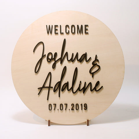 3D Wedding Sign with Acrylic Letterings