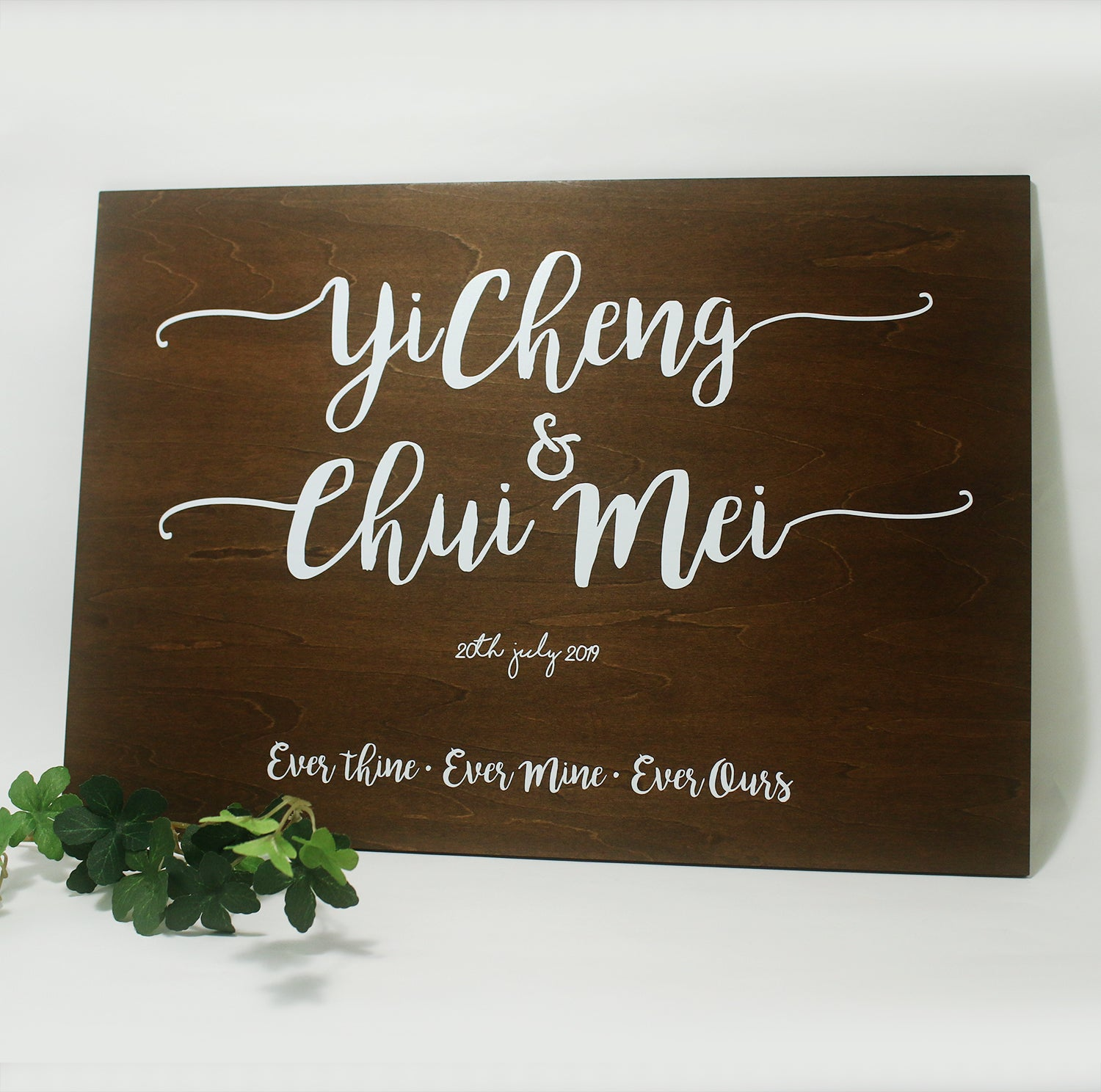 Wedding Signage Basswood Ply (Wood Stain)
