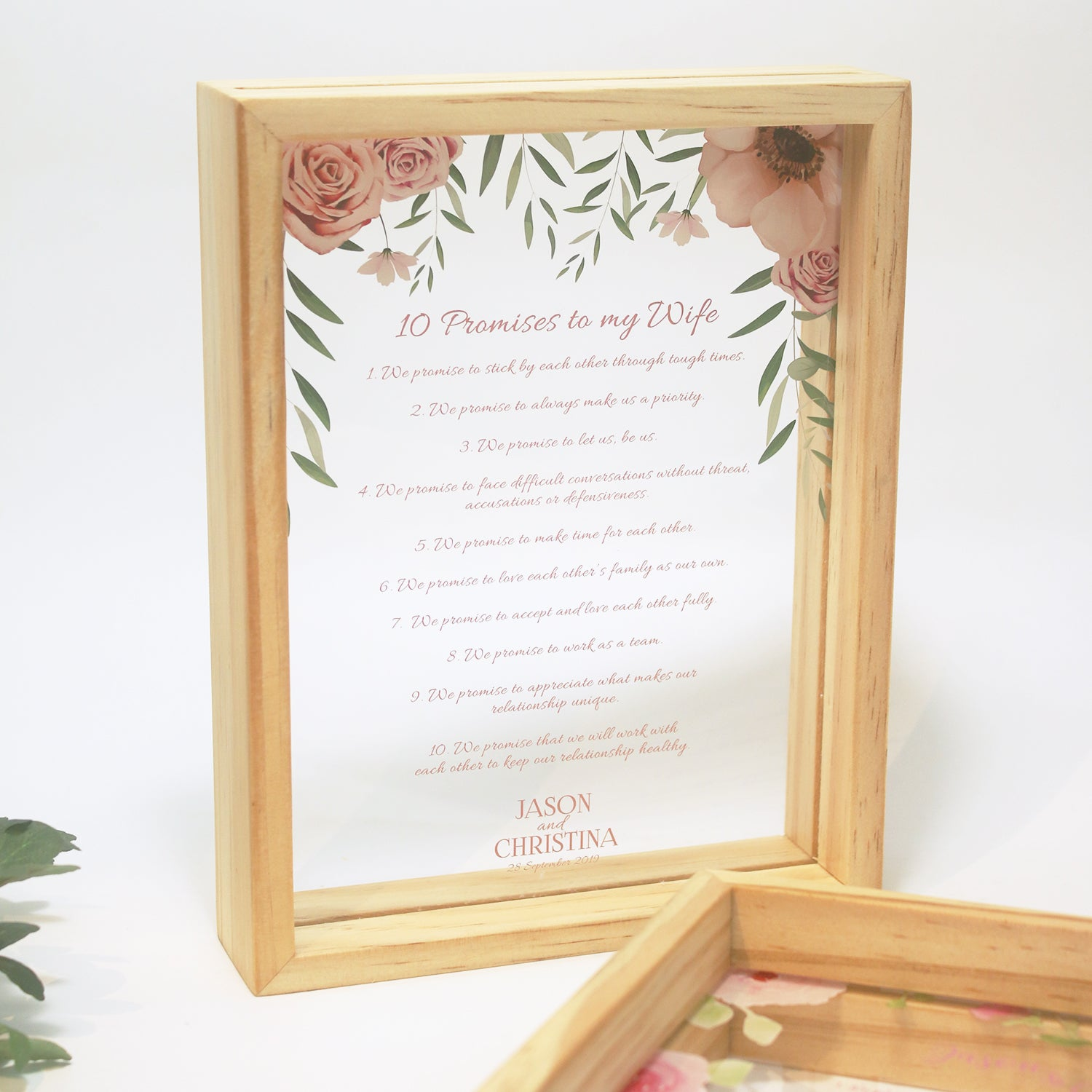 Vow Boards in Portrait Frame (Prints)