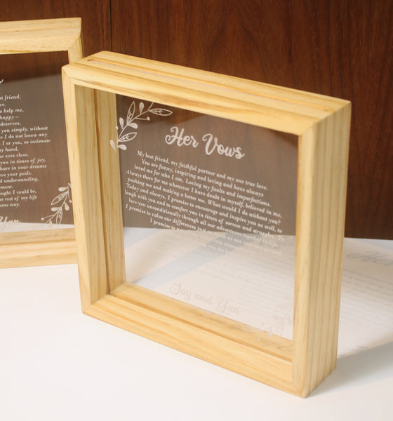 Vow Boards in Frame