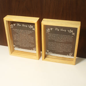 Vow Boards in Portrait Frame