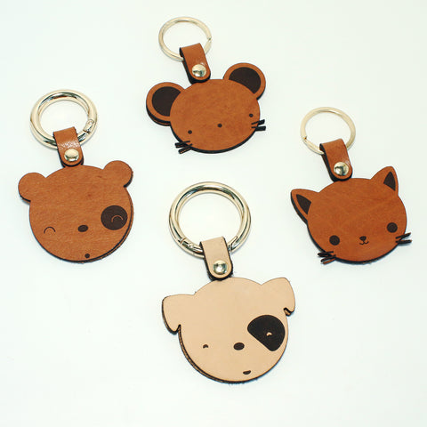 Animal Series Leather Keychain
