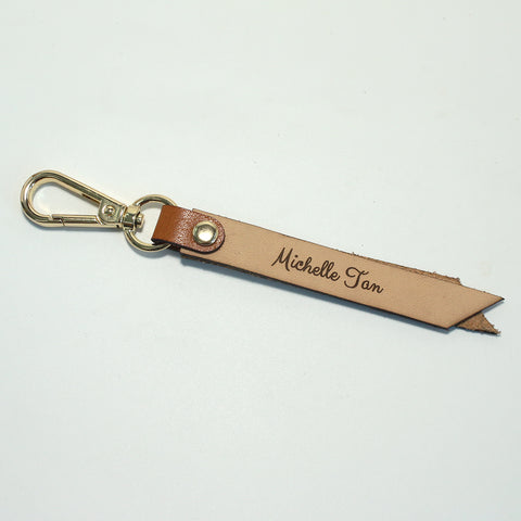 Duo-Tone Leather Keychain