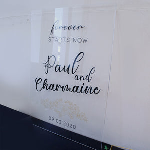 Wedding Signage Acrylic