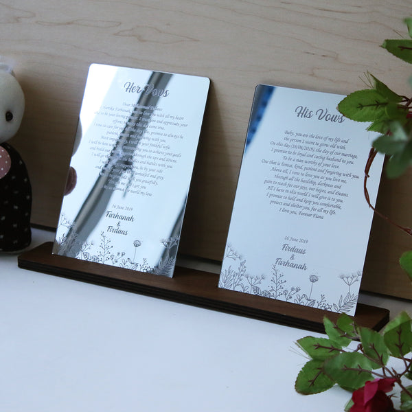 Silver Mirror Vow Boards