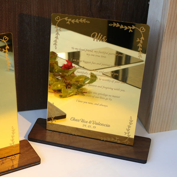 Gold Mirror Vow Boards