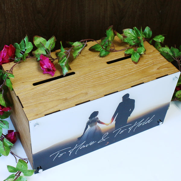 Double Compartment Photo Print Wedding Box