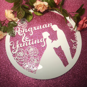 Wedding Emblem Decor Acrylic