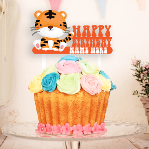 Happy Tiger Cake Topper