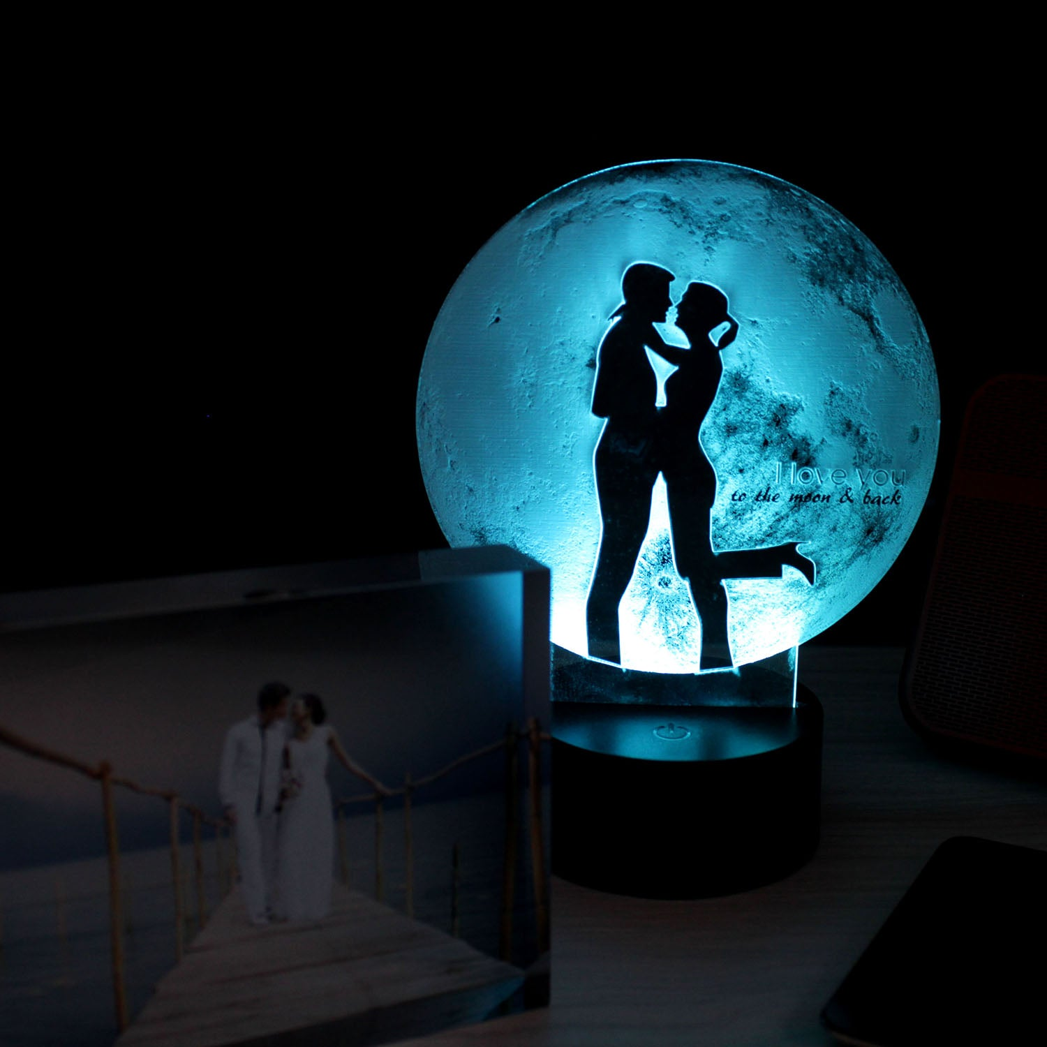 'I love to the Moon & Back' Bedside Lifestyle Lamp