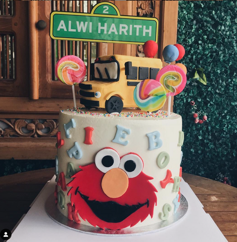 'Sesame Street Sign' Custom Cake Topper