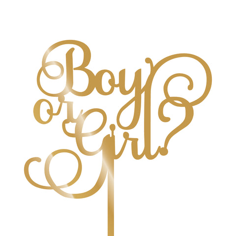 Boy or Girl? Cake Topper