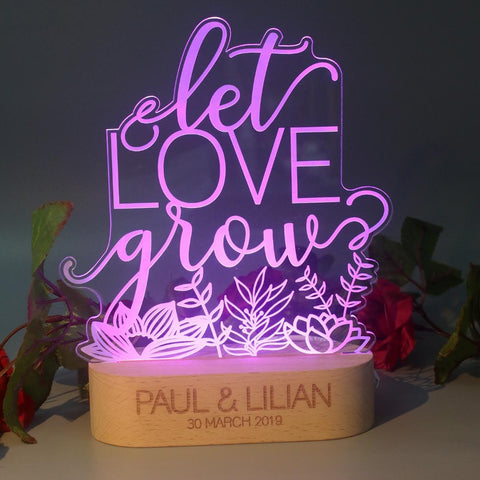 'Let Love Grow' Lifestyle Lamp