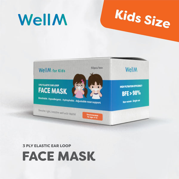 [1-2 Weeks Production] WellM 3-ply Kids Certify Medical Mask