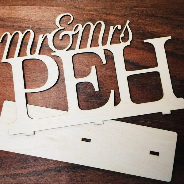 Custom Mr & Mrs Sign
